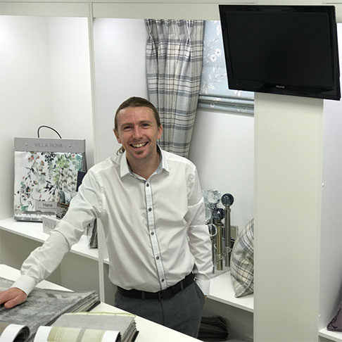 Darren owner of Charltons Curtains and Blinds