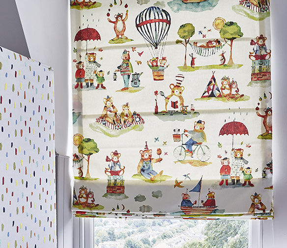 little bear roman blinds by Charltons