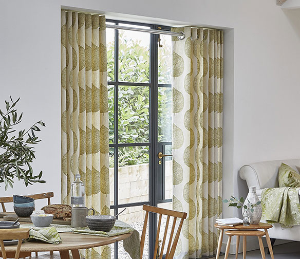Green Patterned Curtains by Charltons